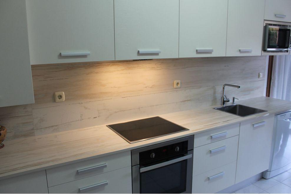 cocina moderna con encimera y entrepa o de dekton a z